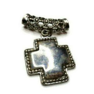 Vintage large statement necklace pendant charm